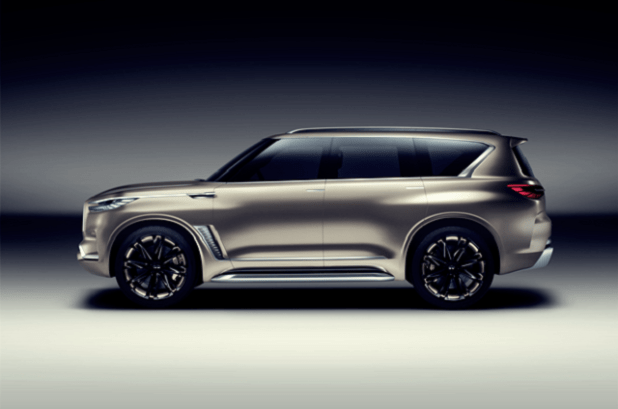 2020 Infiniti QX80 side view