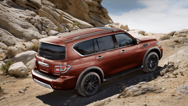 2020 Nissan Armada rear view
