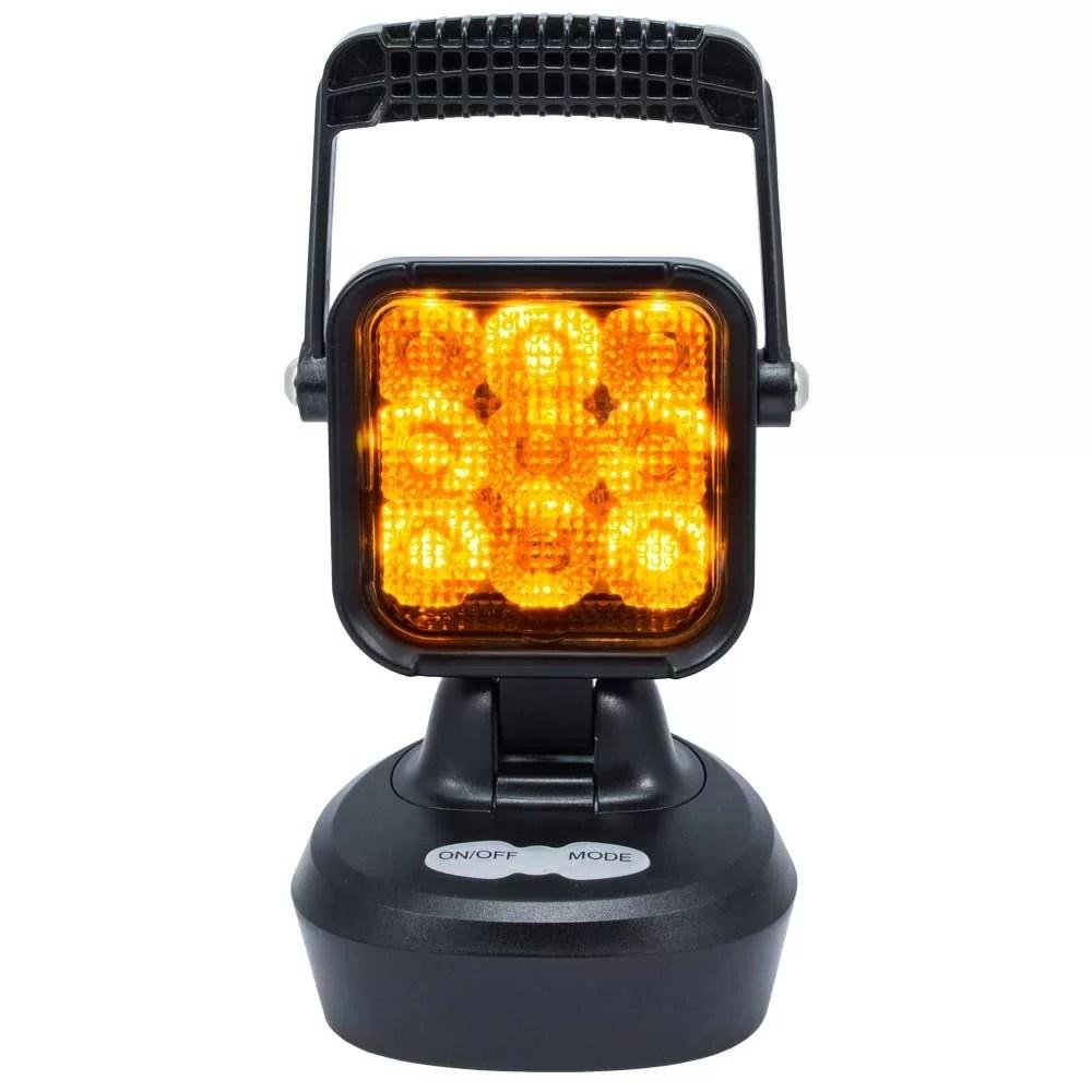FEU DE TRAVAIL LED – SWEDSTUFF ED 12-24V DC,  18W, magnet, warning light function (orange)