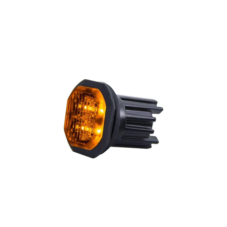 FEU D'AVERTISSEMENT LED DUO – SWEDSTUFF 2x10W 12-24V DC, ECE, (orange)
