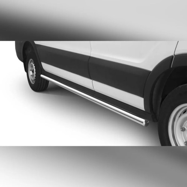 PROTECTIONS LATERALES INOX SUR FORD TRANSIT 2019 (L2)