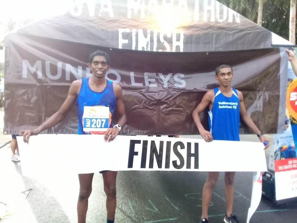Munro Leys Suva Challenge 2017 - Men's Half Marathon winners