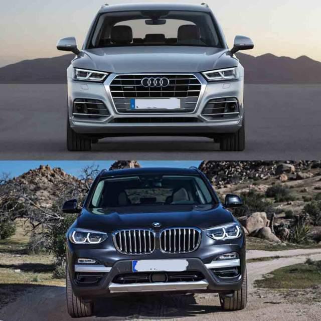 2019 Audi Q5 vs 2019 BMW X3 front