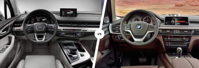 2019 Audi Q7 vs 2019 BMW X5 interior