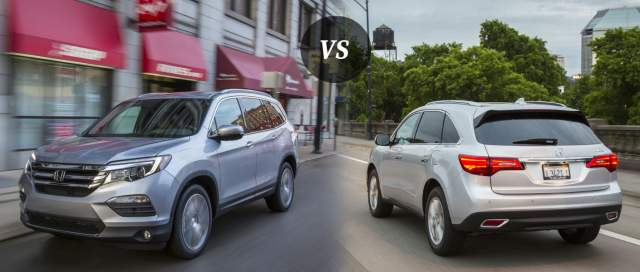 2019 Acura MDX vs 2019 Honda Pilot rear