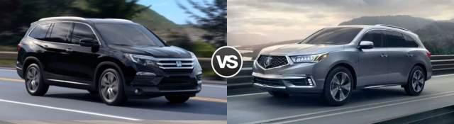 2019 Acura MDX vs 2019 Honda Pilot redesign