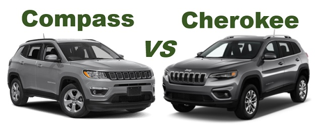 2020 Jeep Compass vs Jeep cherokee