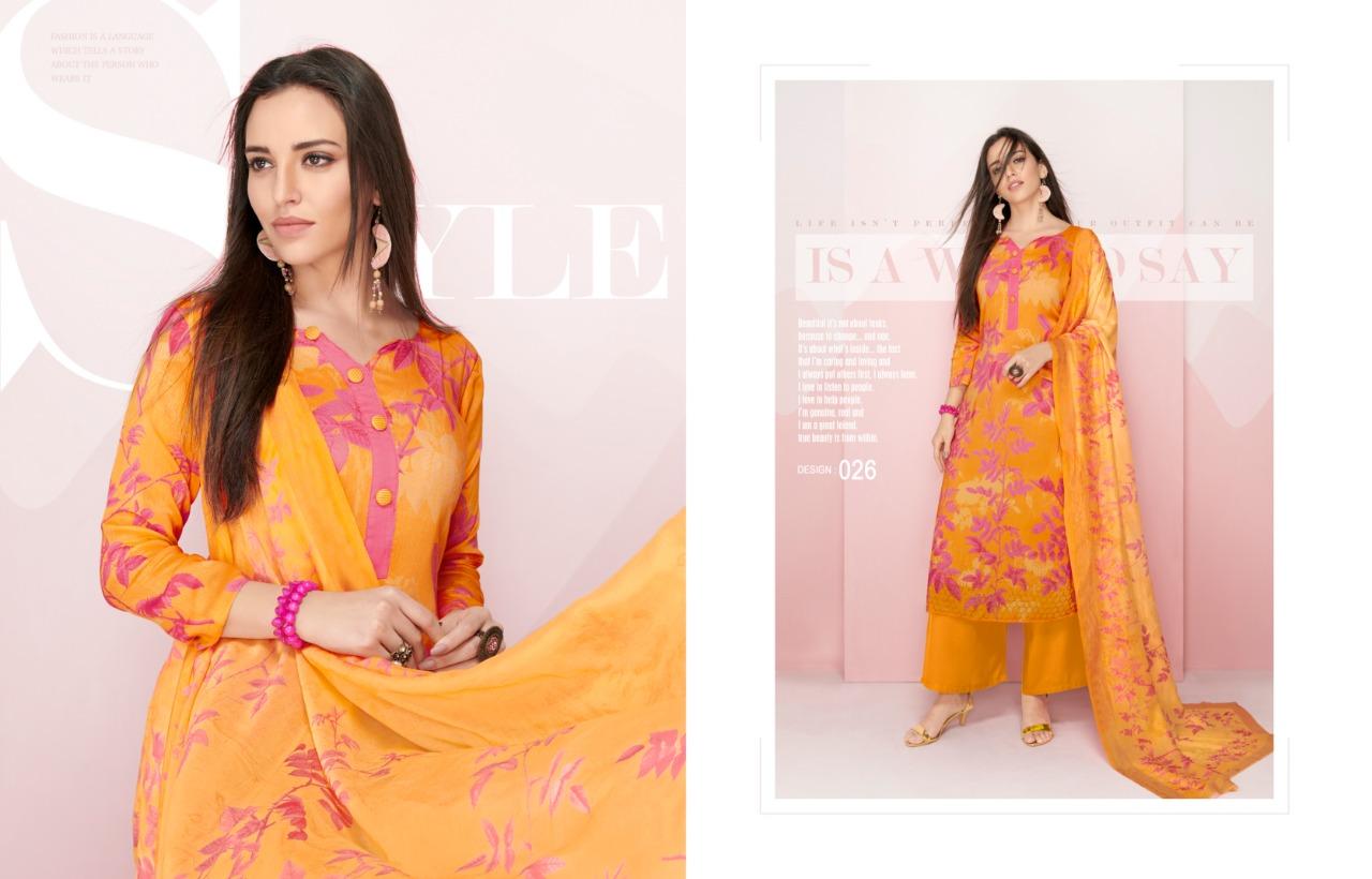 3fcf447d10 Angroop plus orangic jam silk printed suit fabric - Suvesa- women's ...