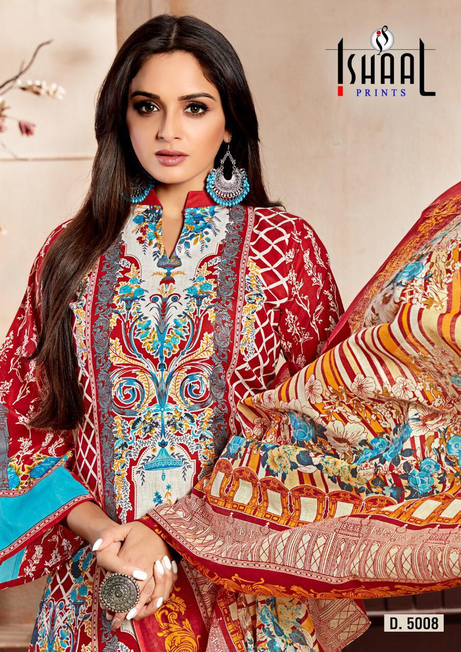 9cb9f48b19 Ishaal prints gulmohar lawn printed suit fabric-5008 - Suvesa ...