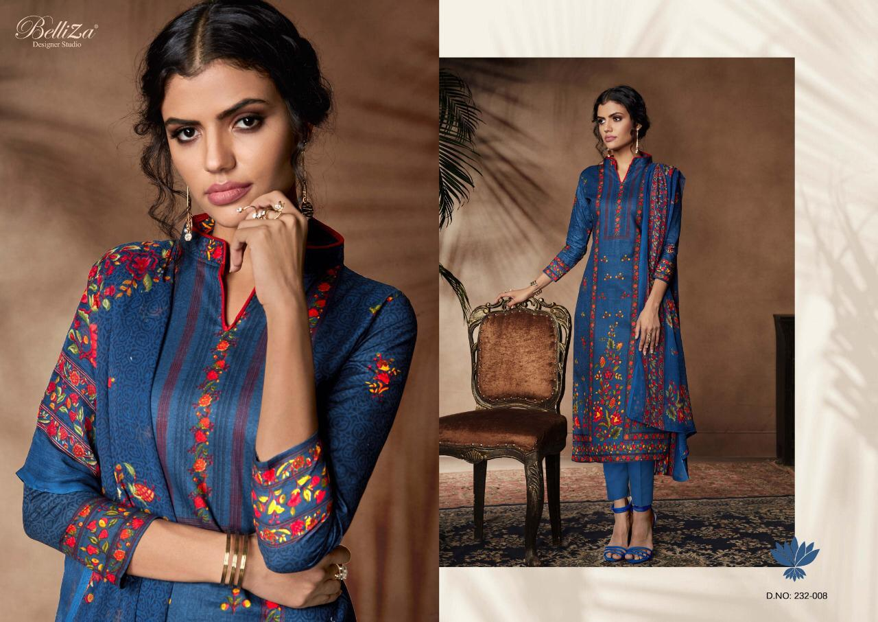 c0433fd1fe Belliza Designer Nazrana Premium Cotton Print Dress Suits-08 ...