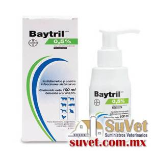 Baytril 0.5% oral con aplicador frasco de 100 ml - SUVET