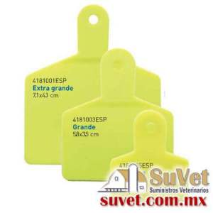 Arete Markiflex extra grande amarillo s/n 50 p (sobre pedido) bolsa de 50 pz - SUVET