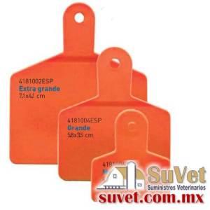 Arete Markiflex extra grande naranja s/n 50 p (sobre pedido) bolsa de 50 pz - SUVET