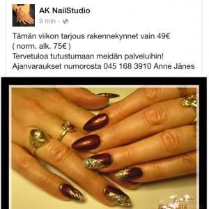 AK Nailstudio sijaitsee Helsingin Hakaniemessä.