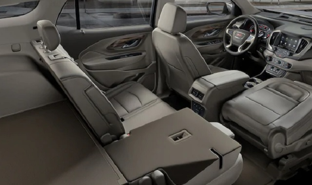 2020 GMC Terrain interior and cargo volume