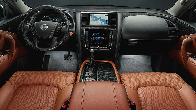new 2021 Nissan patrol interior