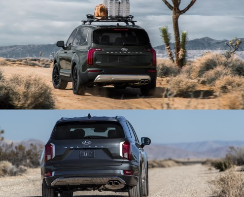 Kia Telluride Rear vs Hyundai Palisade Rear