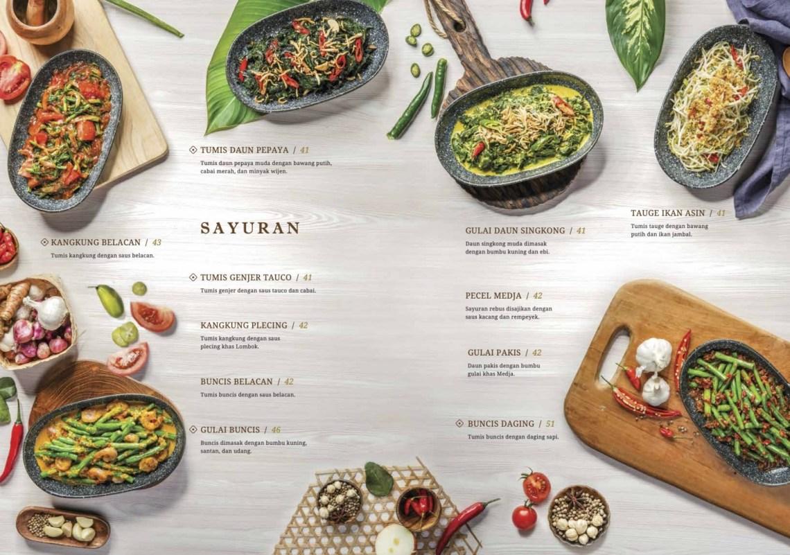Menu Sayuran Medja Restaurant Bogor