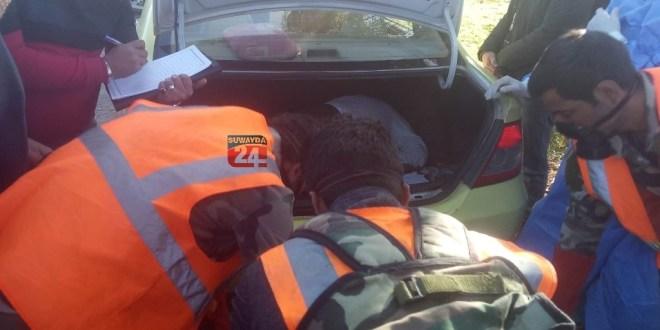 العثور على جثة مواطن مقتولاً في صندوق سيارته بالسويداء