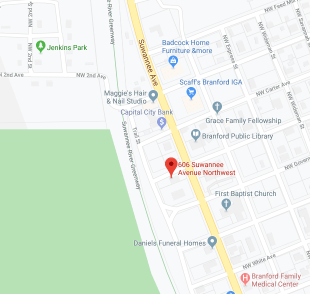 Map to crystal river office