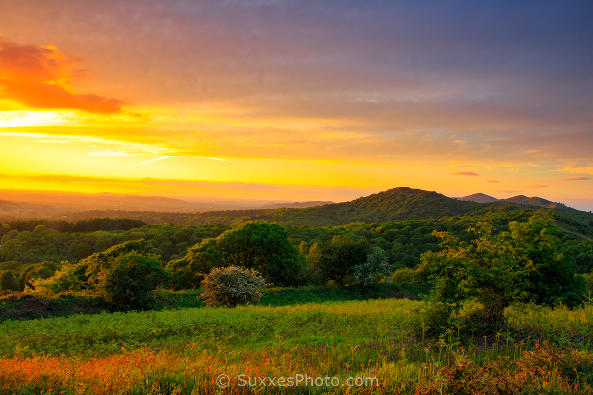 Sunset Malvern Hills