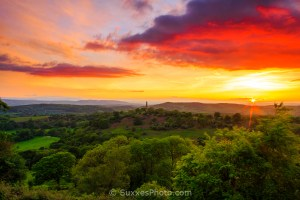 Mid Summer Hill sunset Malverns