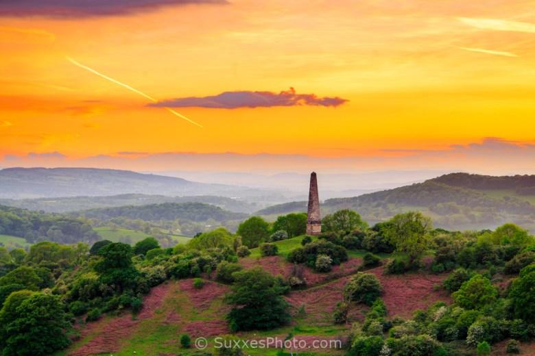 Eastnor Obelisk sunset