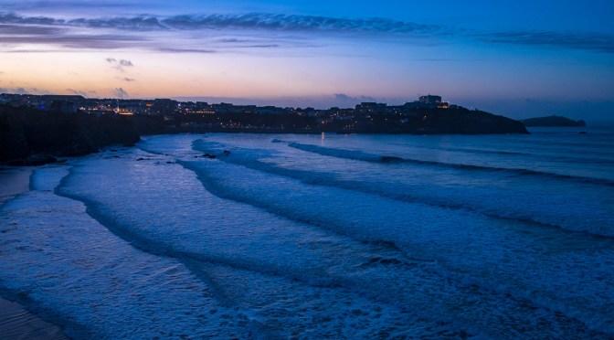 Sunset Over Newquay Cornwall Uk Landscape Photography