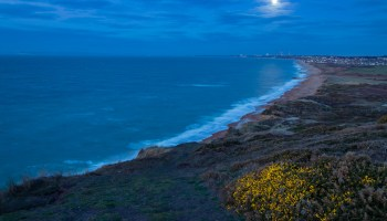 Full Moon Hastings East Sussex - UK Landscape Photography