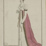 1812 Costume Parisien Dress and manteau (train) trimmed with marten (fur)