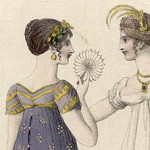 Cartouche fan, from a plate in Ackermann's Repository for Art, 1808.