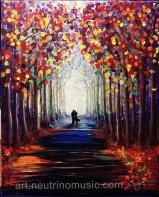 Acrylic Romantic Walk