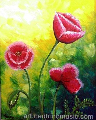 Acrylic Poppies