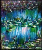 Acrylic Water Lilies (Monet-esque)