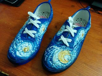 """Starry Night"" on Canvas Shoes by Suzanna"