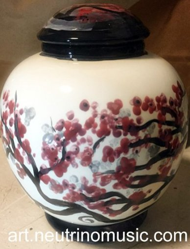 Ceramic jar painted by Suzanna