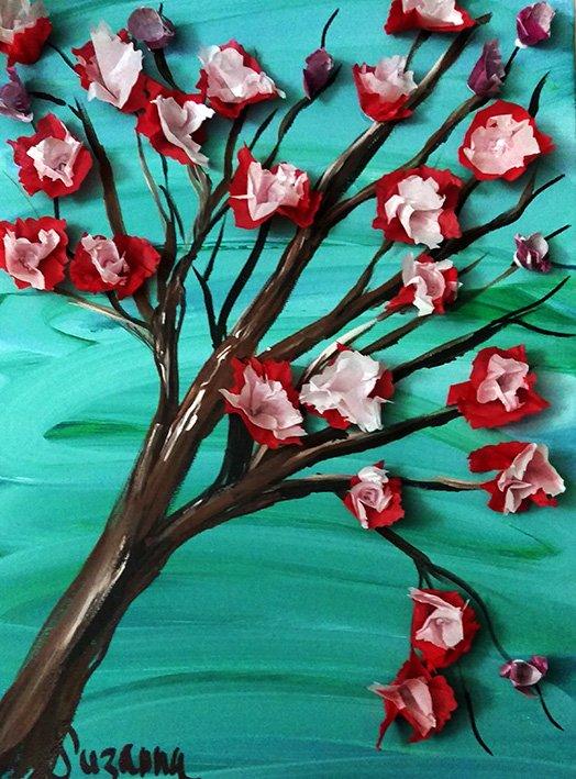 Acrylic and Tissue - Mixed-Media by Suzanna