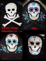 Pirate to Sugar Skull Chair Covers by Suzanna
