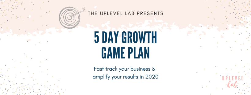 , 5 day growth game plan confirmation