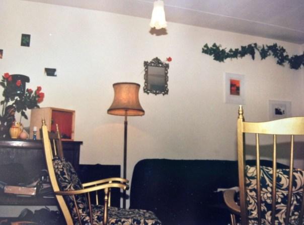 Geverfde stoelen uit mijn gouden periode in mijn eerste eigen huis.