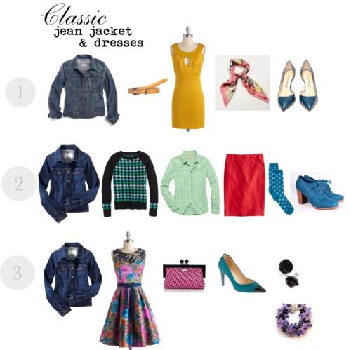Classic jean jacket & dresses