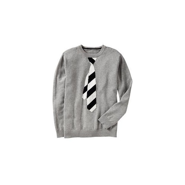 Old Navy Boys Necktie Graphic Sweaters