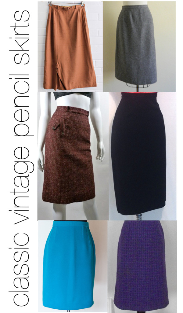 how to style classic vintage pencil skirts
