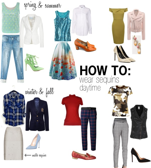 How To Wear Sequins During the Day Spring, Summer, Winter & Fall