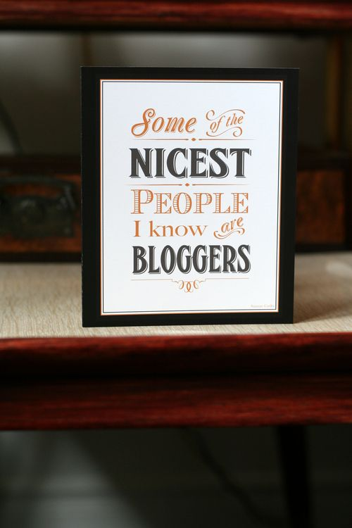 Blogger greeting card some of the nicest people i know are bloggers suzanne carillo retro style