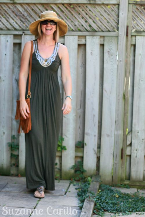 How to style a maxi dress in summer