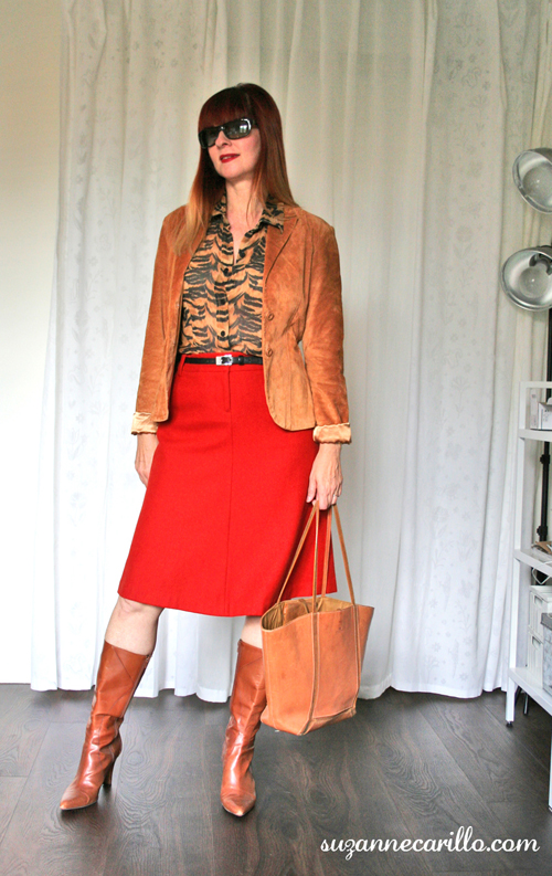 how to style an aline skirt with animal prints