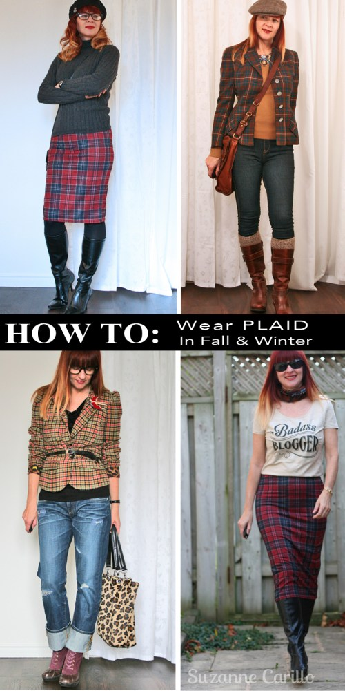 how to wear plaid fall and winter suzanne carillo