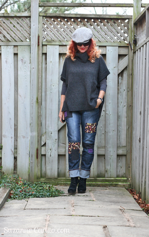 DIY designer patchwork jeans by suzanne carillo