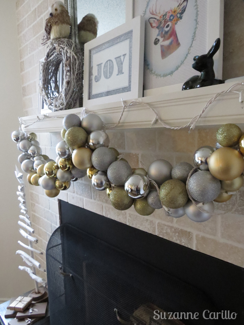 handmade christmas bulb garland easy to make